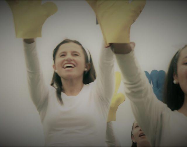 Coreografía para la bienvenida del Papa Francisco a Colombia